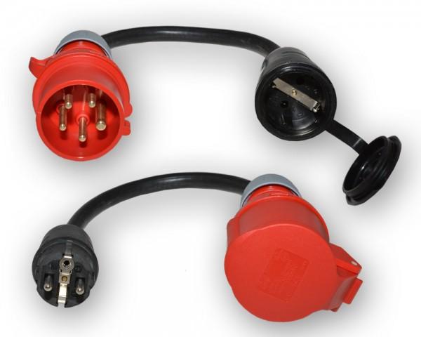 CEE 16A/400V Adapter Set auf 230V